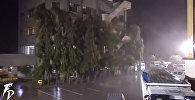 Тайфун раскачивает небоскребы и сметает поселки на Филиппинах — видеоподборка