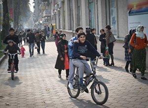 Душанбе шаарынын жашоочулары. Архив