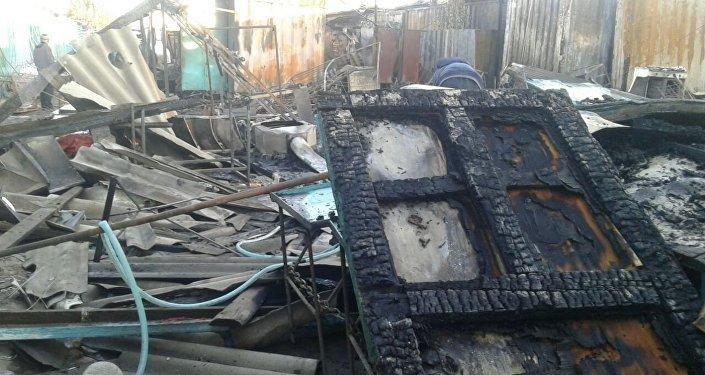 Пожар на рынке Каракола