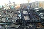 Ысык-Көлдүн Каракол шаарындагы Ак-Тилек базарынан чыккан өрттөн улам 15ге чукул контейнер күйүп кеткен
