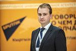Начальник управления экспортных продаж компании АвтоВАЗ Виктор Рудаков во время кыргызско-российского бизнес форума.