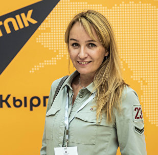 Учредитель Российской ассоциации фэшен-индустрии Олеся Орлова на кыргызско-российском бизнес форуме