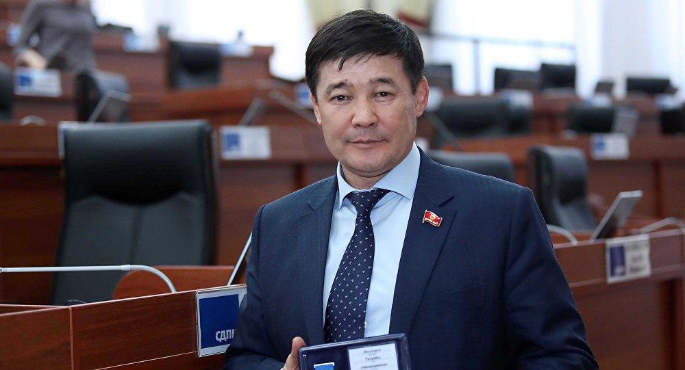 Депутат парламента от фракции Кыргызстан Талайбек Масабиров