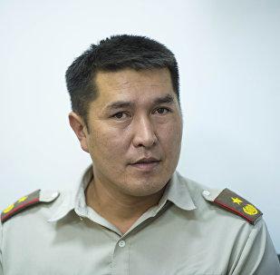 ӨКМдин Бишкек шаардык башкармалыгынын өрт өчүрүү бөлүмүнүн башчысы Урмат Сариев