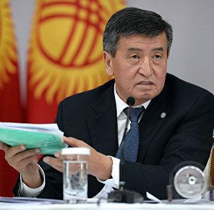 Визит президента КР Сооронбая Жээнбекова в Кеминский район