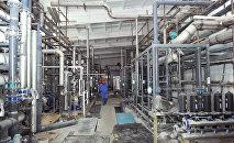 Ход строительства нового цеха химической водоочистки в ТЭЦ Бишкека