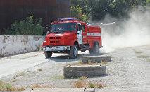 Пожарная машина МЧС КР. Архивное фото