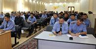 Сдача зачета руководителями главного и районных управлений внутренних дел Бишкека