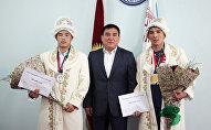 Чемпион и призер Азиатских игр получили денежные премии в Оше