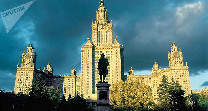 Здание Московского Государственного университета (МГУ) имени М.В.Ломоносова. Архивное фото