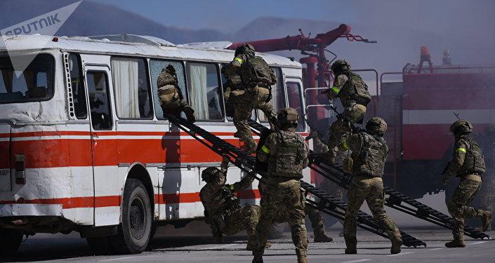 Военные учения Иссык-Куль-Антитеррор-2018