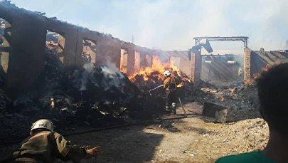 Пожар в жилом доме в Сузакском районе