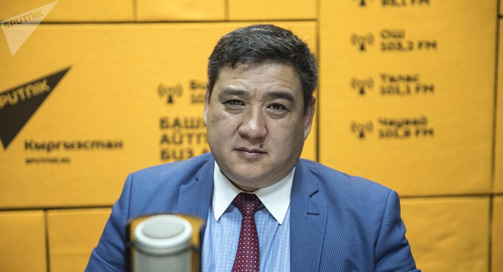 Заместитель директора Центра трудоустройства граждан КР при Министерстве труда, миграции и молодежи Алмаз Алыбаев во время интервью Sputnik Кыргызстан