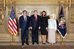 Фотофакт: Жээнбеков жана Трамп жан шерик жубайлары менен