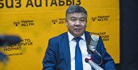 Архивное фото лидера парламентской фракции Ата Мекен Алмамбета Шыкмаматова
