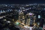 Вид на ночной Бишкек с высоты. Архивное фото