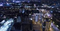 Вид на ночной город Бишкек. Архивное фото