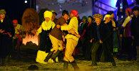 Праздничные мероприятия, посвященные 150-летию манасчи Сагынбая Орозбак уулу в Нарыне