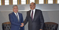 Встреча главы МИД Эрлана Абдылдаева с вице-премьер-министром, министром иностранных дел Кувейта шейхом Сабахом аль-Халид аль-Хамад аль-Сабахом