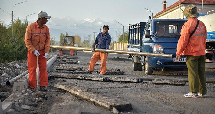 Ход строительства на Южной магистрали Бишкека
