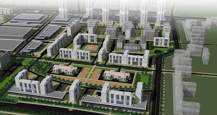 Проект застройки западной части Бишкека