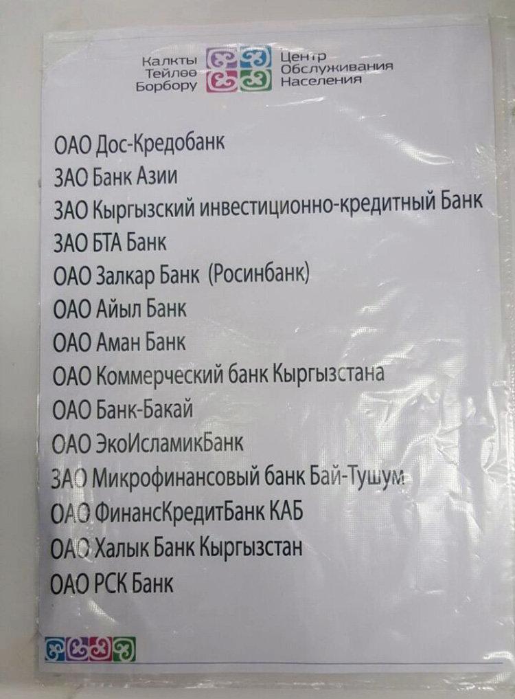 Подходит ли ваша банковская карта для получения социального пособия, вы можете узнать, ознакомившись со следующим списком. Такой список имеется в крупных ЦОНах.