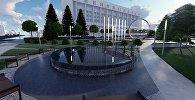 Бишкек мэриясы Башкы прокуратуранын күйүп кеткен имаратынын ордуна салына турчу сквердин болжолдуу эскизин көрсөттү
