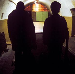 Осужденные в тюрьме. Архивное фото