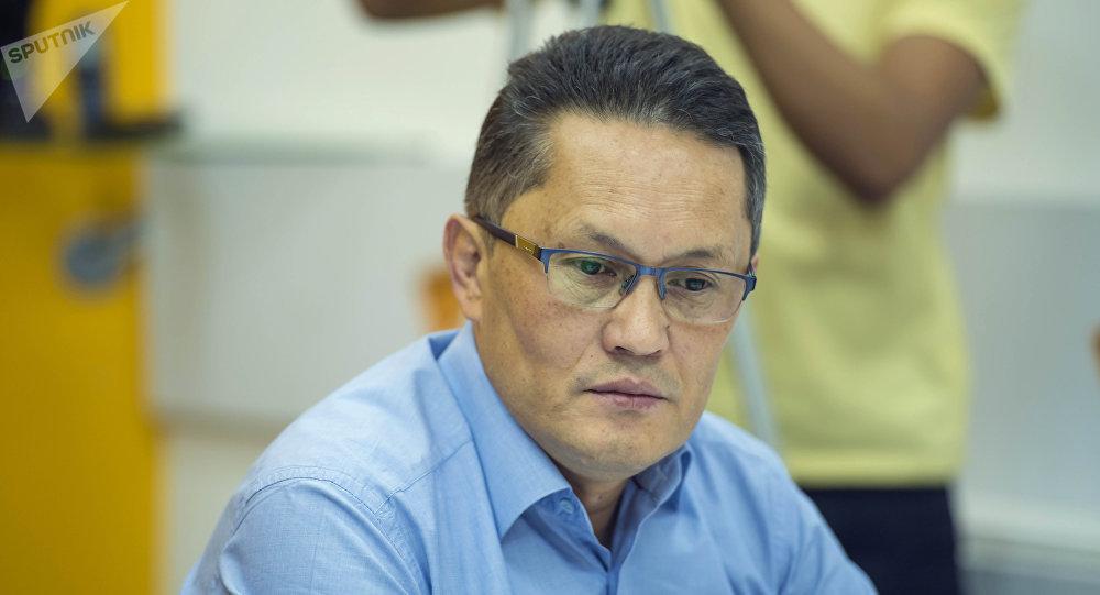 Глава общественного совета Министерства здравоохранения КР Айбар Султангазиев. Архивное фото