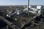 Вид на модернизированную часть Бишкекской теплоэлектроцентрали с высоты. Архивное фото