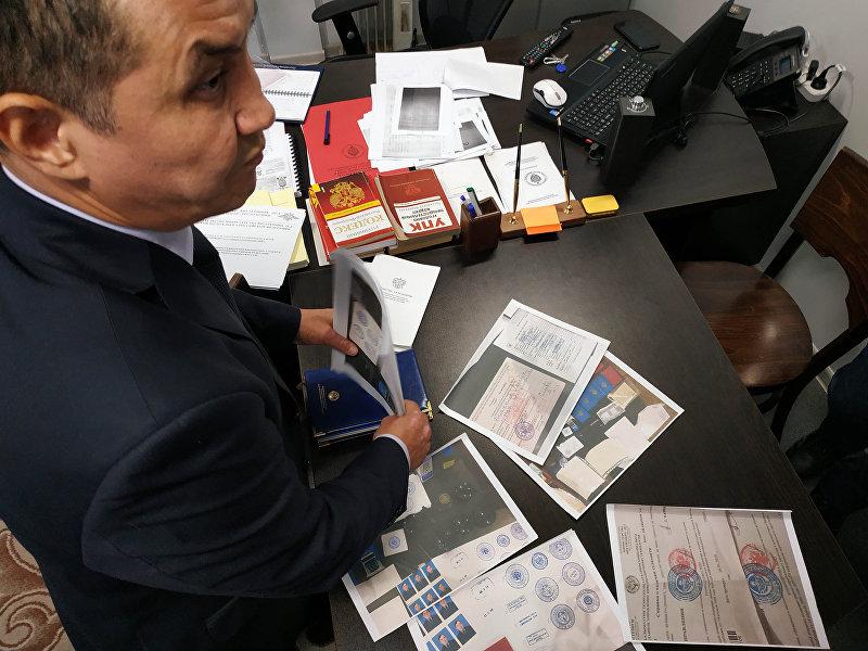 Руководитель полковник милиции Раим Салимов, представитель МВД Кыргызстана в России