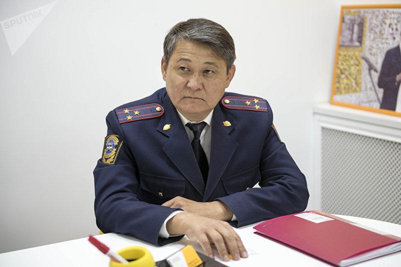 Заместитель начальника Главного управления патрульной милиции МВД КР Ыманалы Саркулов
