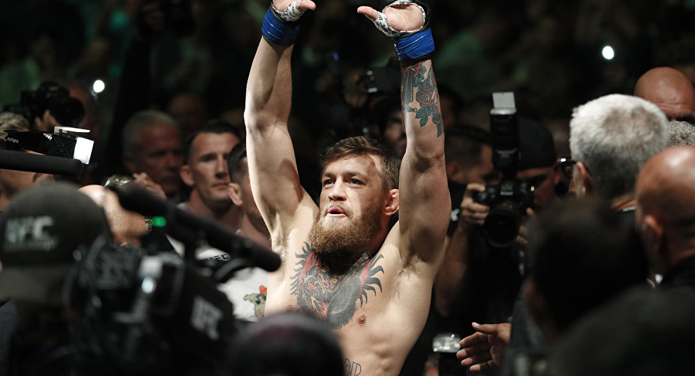 Ирландский боец Конор Макгрегор перед боем с россияниным Хабибо Нурмагомедовым в рамках турнира UFC 229 в Лас-Вегасе. 07 октября 2018 года