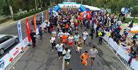 Сотни бегунов под Бишкеком — аэросъемка с марафона