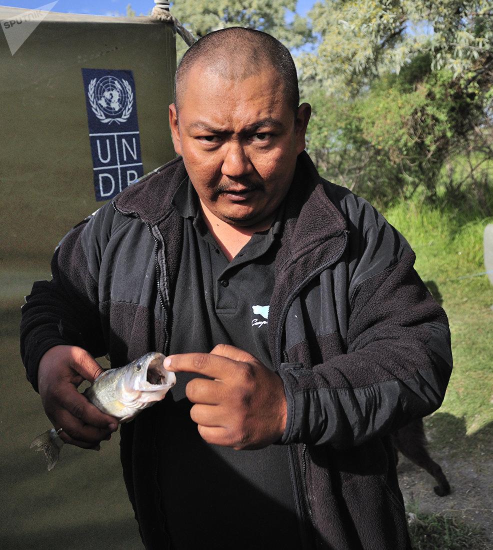 Эксперт по биоразнообразию Фонда дикой природы, член ассоциации Иссык-кульские прудовики Азат Аламанов