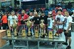 Восемнадцать спортсменов из Кыргызстана завоевали медали на Чемпионате мира по панкратиону