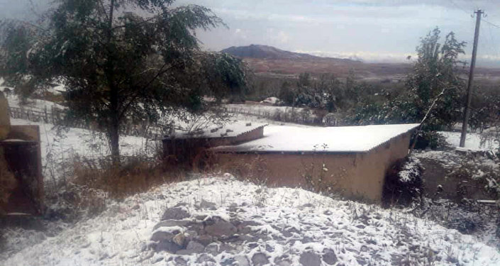 В Лейлеке выпал снег