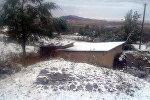 В Лейлекском районе в начале октября выпал снег