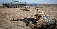 Военные учения сил ОДКБ в Балыкчи