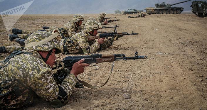 Военные учения сил ОДКБ. Архивное фото