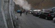 Задымление в тоннеле имени К. Кольбаева на перевале Тоо-Ашуу