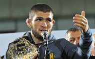 Россиялык UFC чемпиону Хабиб Нурмагомедов. Архивное фото