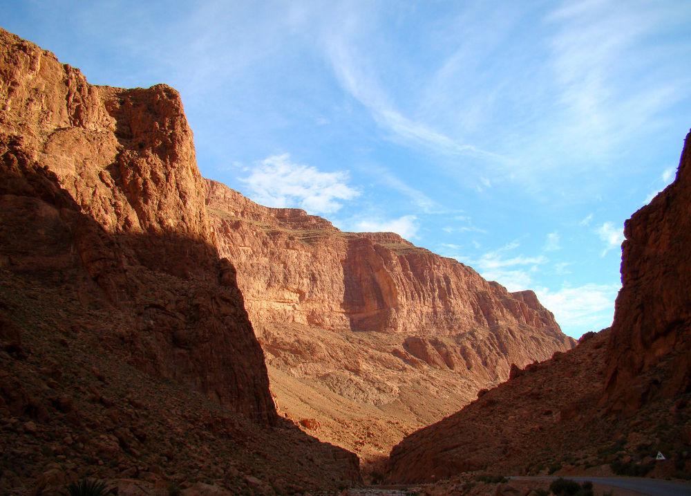 Тропа в ущелье Тагхиа, Марокко