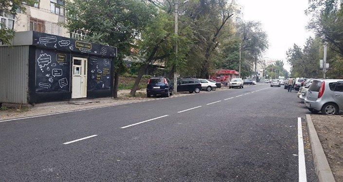 Ремонтные работы велись в рамках проекта Восстановление дорожного покрытия автомобильных дорог Бишкека