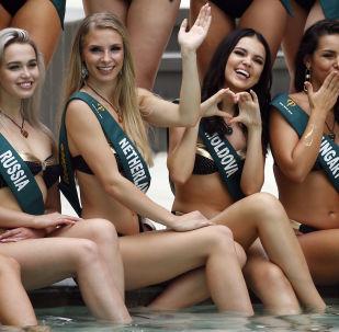 Фотосессия кандидаток на звание Мисс Земля
