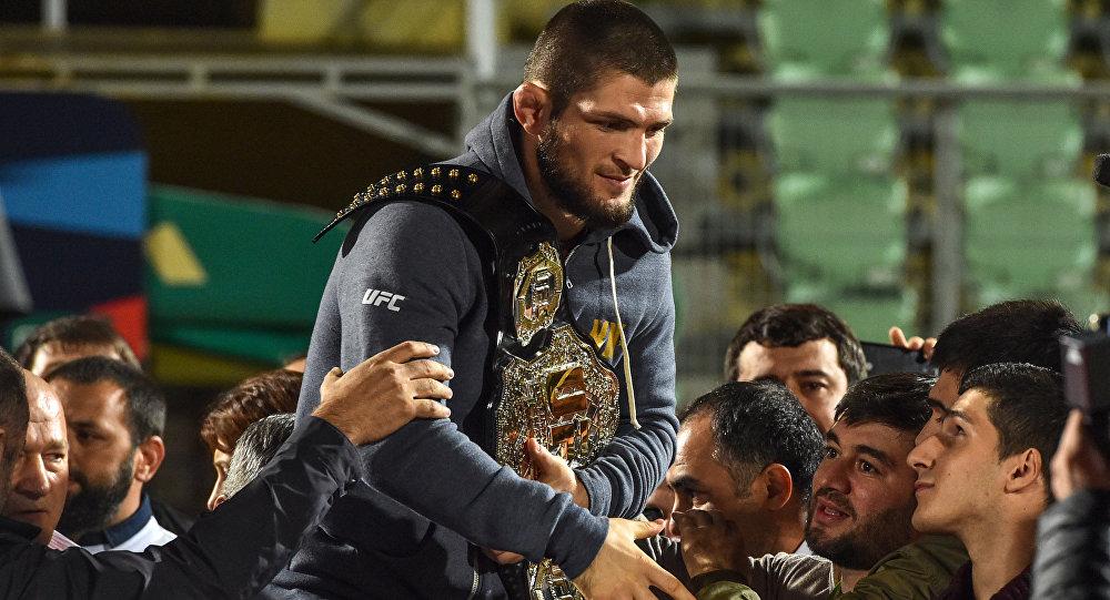 Архивное фото чемпиона UFC в легком весе Хабиба Нурмагомедова