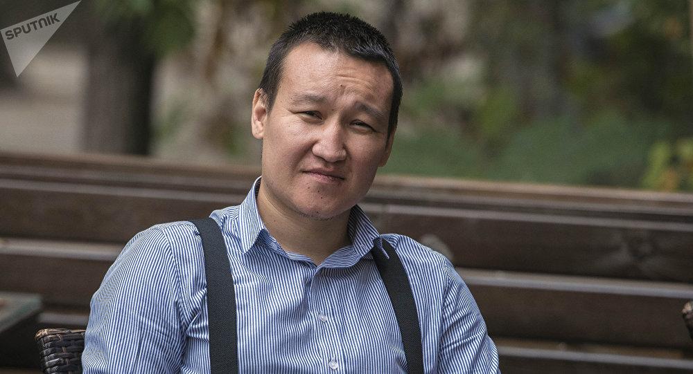 Шеф-редактор информационного агентства и радио Sputnik Кыргызстан Эркин Алымбеков. Архивное фото
