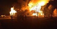 Пожар в здании детского сада в селе Чакмак-Суу Чаткальского районе