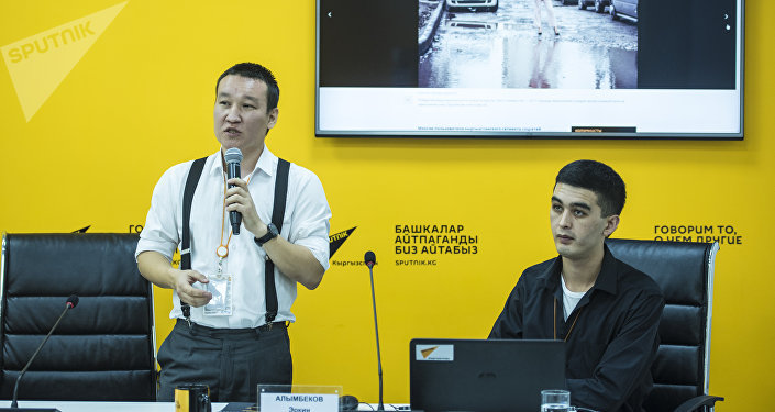 Шеф редактор информационного агентства и радио Sputnik Кыргызстан Эркин Алымбеков провел мастер-класс для студентов факультета журналистики Бишкекского гуманитарного университета