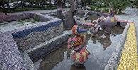Солнечные рыбки фонтаны. Архивдик сүрөт